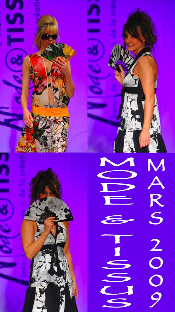 mode & tissus, mars 2009, défilé, éventail.