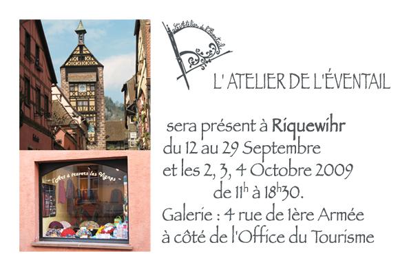 Expo Riquewihr Septembre et Octobre 2009