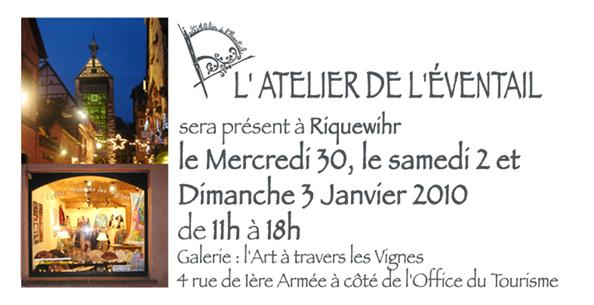 Expo à Riquewihr du Samedi 2 au Dimanche 3 de 11h à 18h.