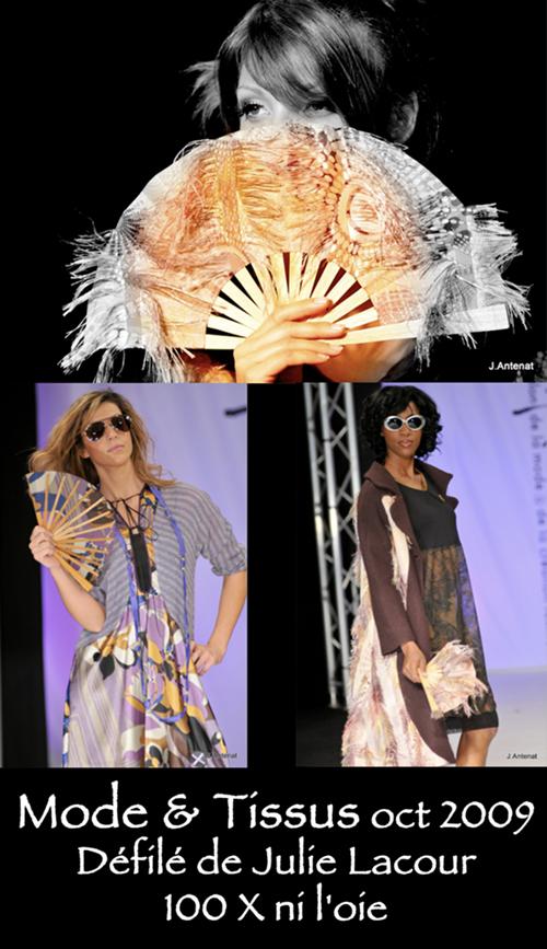 Mode & Tissus, Défilé de Julie Lacour, Octobre 2009.