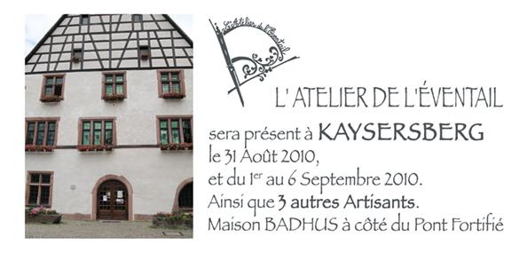 Expo, au Badhus, kaysersberg, Septembre 2010.