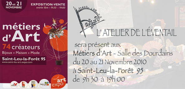 Expo, Métiers, d'Art à Saint-Leu-la-Forêt, de 9h30 à 19h. (95)