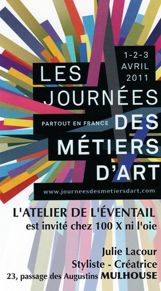 LES JOURNÉES DES MÉTIERS D'ART. CHEZ Julie, Lacour 100X, ni l'oie, Mulhouse.