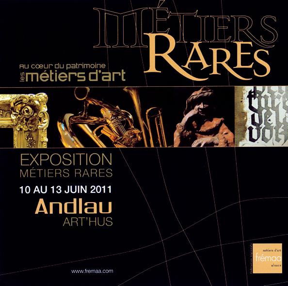 EXPOSITION, DES MÉTIERS, RARES À ANDLAU (67).